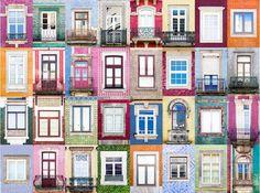 Janelas na cidade do Porto, no distrito do Porto, região norte de Portugal. O fotógrafo português André Vicente Gonçalves viajou o mundo fotografando portas e janelas.  http://www.redetv.uol.com.br/jornalismo/da-para-acreditar/homem-viaja-o-mundo-fotografando-janelas-e-portas