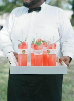 Bar service by Patrick Properties Hospitality Group at Marian & Peter's Lowndes Grove Wedding | September wedding in Charleston, South Carolina | Photo by Elizabeth Messina
