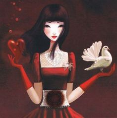 Mila Marquis 'Girl With Dove'