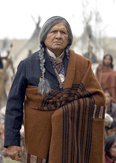 Gordon Tootoosis, Canadian actor, activist, of Cree and Stoney descent. 1941-2011