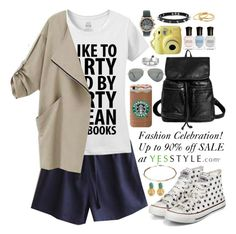 """""""Yesstyle"""" by oshint ❤ liked on Polyvore featuring Fairyland, Eloqueen, yeswalker, QeQ, Ray-Ban, Deborah Lippmann, MBLife.com, Trend Cool, Gorjana and cool"""