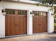 Did you remember to shut the garage door? Most smart garage door openers tell you if it's open or shut no matter where you are. A new garage door can boost your curb appeal and the value of your home. Garage Door Lights, Garage Door Colors, Garage Door Styles, Garage Lighting, Garage Door Opener, Exterior Garage Lights, Outdoor Garage Lights, Carriage Style Garage Doors, Modern Garage Doors