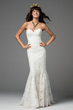 Main Image - Willowby Liesel Strapless Lace Mermaid Gown (In Selected Stores Only) Wedding Dress Trends, Designer Wedding Dresses, Bridal Dresses, Wedding Gowns, Wedding Suite, Wedding Ideas, Wedding Venues, Wedding Hair, Wedding Reception