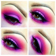 Smokey pink look