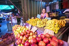Maria is a microentreprenur of Whole Planet Foundation partner Fundacion Paraguaya. Maria is a fruit vendor in the city market in the country's capital.    (Photo courtesy of Fundacion Paraguaya)