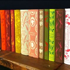 Colorful hard-bound books from Michele Varian