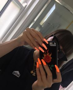 Login FLOSS GLOSS LTD babe foaaeinb gboss inspired me to get Fast Lane back on my nails ? Neon Acrylic Nails, Neon Nails, Neon Orange Nails, Glitter Nails, Gold Glitter, Aycrlic Nails, Coffin Nails, Matte Nails, Black Nails
