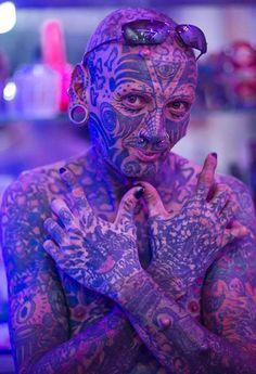 Face Tattoos Piercings For Women