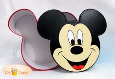 Wow, I love Mickey. Diameter 17cms (exclude ears) Height 10 cm