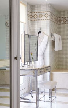 Gorgeous makeup vanity.  ECLECchic: Hotels