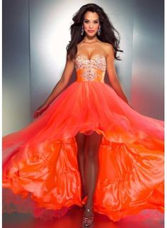 Organza and Blue Organza Front Short Long Back Prom Dresses New Fashion 2013