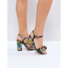 edf8e20de33 ASOS HAZELLE Bow Block Heels ( 67) ❤ liked on Polyvore featuring shoes