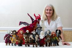 Grandmother's stunning knitted models of Lord of the Rings and The Hobbit characters
