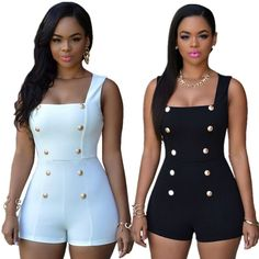 e6507a8b1289 2015 Women Sexy Black Rompers Short Jumpsuits White Bodysuits Monos Womens  Overalls Bodycon Playsuits Ladies One Piece Romper(China (Mainland))