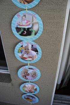 12 month PHOTO banner  DIY PRINTABLE by aprettyparty on Etsy, $12.00
