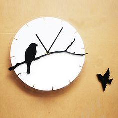 Bird acrylic mute wall clock