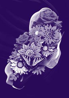 Digital bouquet. by matthieu chauvirey, via Behance
