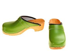 Hey, I found this really awesome Etsy listing at https://www.etsy.com/listing/95296674/clogs-green