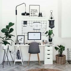 47 Inspiring Home Office Organization Ideas – Office Room Home Office Space, Home Office Design, Home Office Decor, Home Decor, Office Decorations, Office Workspace, Work Desk Decor, Home Office Bedroom, Computer Desk In Bedroom