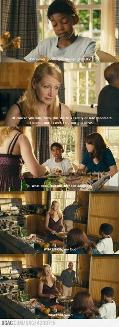 Easy A fav part of the movie. Lol who told u , u were adopted
