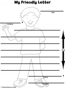 Image detail for -Here's a Friendly Letter printable template and lesson plan. This ...