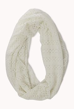 Striped Metallic Infinity Scarf | FOREVER21 - 1077597821