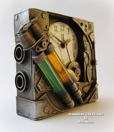 "pandrewshaner: "" Steampunk Bicomponent Clock by *Diarment """