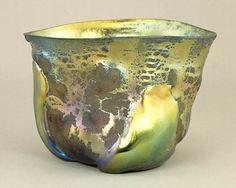 Louis Comfort Tiffany (1848—1933)   Tiffany Furnaces (1902—1928)   Bowl, 1908  Favrile glass,