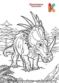 Styracosaurus Dino Badak Bercula Tombak Tombak