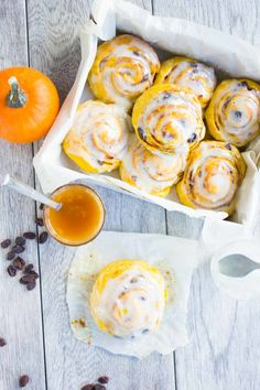 This pumpkin cinnamon rolls recipe is super tender, super fluffy and stays moist for days! It's the ultimate cinnamon roll meets pure pumpkin love.