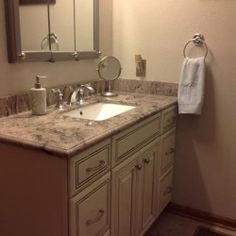 bath vanity cabinet kemper cabinetry kingston maple coconut paint with grey stone glaze