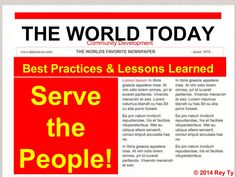 Community Development Lessons Learned and Best Practices. by Rey Ty via slideshare Portland Cement, Volunteer Work, Community Organizing, Social Change, Best Practice, Lessons Learned, Learning, Studying, Teaching