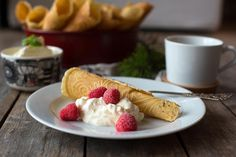 Tolle Desserts, Creme, Waffles, Food And Drink, Snacks, Breakfast, Xmas, Biscuits, Waffle Iron