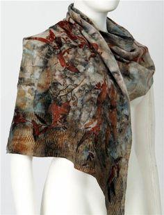 Pam Hovel, beautifully botanically dyed wool wrap