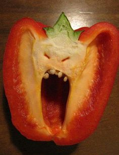 The bell pepper finally snapped....