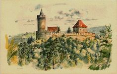 Melnik Czechoslovakia Artist Signed A Alex 1908 Castle Kokorin Vintage Postcard - Moodys Vintage Postcards - 1 14th Century, Culture Travel, Beautiful Buildings, Vintage Postcards, Art And Architecture, Folk Art, Around The Worlds, Artist, Czech Republic