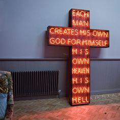 'Each Man Creates His own God' Neon Sign by Philip Oakley Illuminations