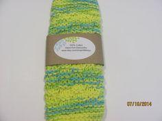 Knit Dishcloth 100 Cotton Gift Idea Beautiful Kitchen by AMailys, $5.00
