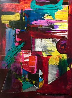 """Dreaming in Living Color by Sara Miller Acrylic ~ 48"""" x 36"""""""