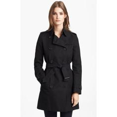 BURBERRY LONDON DOUBLE BREASTED TRENCH COAT $1,495.00