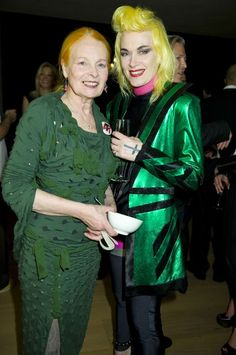What is there not to love about this pic - Dame Viv & Pam Hogg