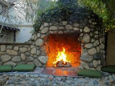 Check out backyards that are kept warm with spectacular fire features.