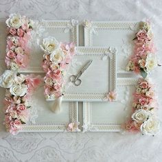 Shabby Chic tray with flowers