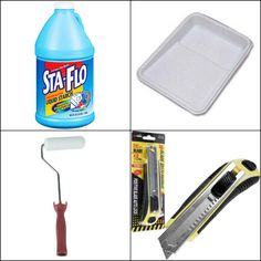 Tools for fabric walls using starch