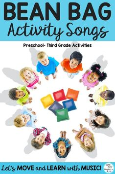 Bean Bag Activities are a great way to include movement into your Music, #PE, #SpecialNeeds, #Preschool and Elementary Classroom. Perfect for Brain Breaks, #TeamBuilding and Sub Activities. K-4 #singplaycreate #brainbreaks #activitysongs