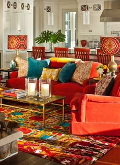 Gorgeous 20 Bohemian Living Room Style Ideas For Best Decoration Inspiration - Freedsgn Teal Living Rooms, Colourful Living Room, Eclectic Living Room, Boho Living Room, Living Room Interior, Living Room Furniture, Living Room Designs, Living Room Decor, Bohemian Living