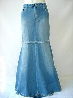 I think I could re-create this using a shorter jean skirt and the legs off of a pair of jeans. I might have some long skirts for winter after all!