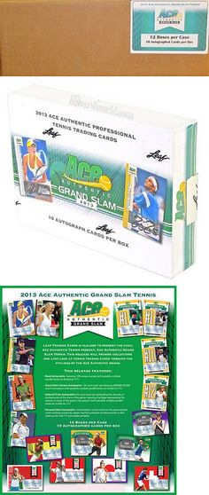 Tennis Cards 43371: 2013 Leaf Ace Authentic Grand Slam Tennis Hobby 12 Box Case - 120 Autos! -> BUY IT NOW ONLY: $640.95 on eBay!