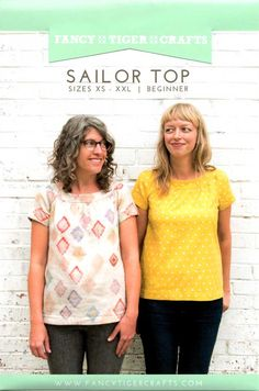 Sewing Pattern, Fancy Tiger Crafts, Sailor Top