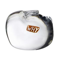 Kosta Boda Why Thoughts Mini Sculpture